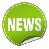 News sticker. News round sticker isolated on wite background. news Royalty Free Stock Photo