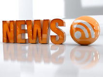 News and rss Stock Photo