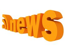 News rss feed orange icon. 3d Royalty Free Stock Photos