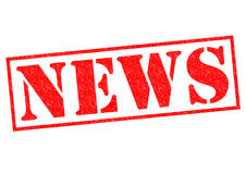 NEWS Rubber Stamp Stock Images