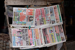 Daily news for sale the street in Manila, Philippines Stock Image