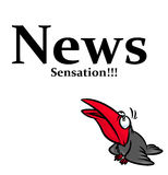 News sensation Raven Royalty Free Stock Images
