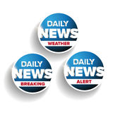 Daily news set - Weather, Breaking, Alert Royalty Free Stock Photography