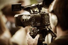 News shooting royalty free stock photography