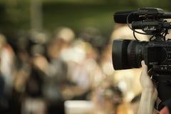 News shooting Stock Photography