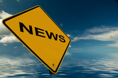 News Sign. Illustration to promote News Items on Websites, blogs, leaflets etc Royalty Free Stock Photography