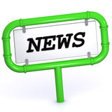 News Sign Stock Photo