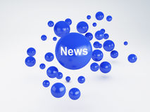 News sign. Social network  concept. Stock Images