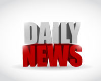 Daily news sign text illustration design Stock Photography