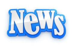 NEWS sign text word on white background Stock Images