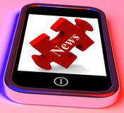 News Smartphone Shows Read Or Watch Latest Stock Photos