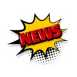 News comic text white background Royalty Free Stock Image