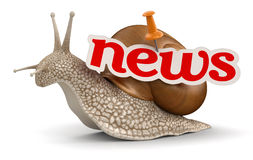 News Snail (clipping path included) Stock Photography