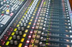News sound desk Royalty Free Stock Photography