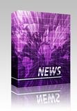 News splash screen box package Stock Photography