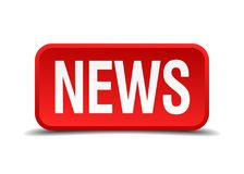 News button. News square 3d realistic isolated web button. news Stock Photo