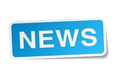 News sticker. News square sticker isolated on white background. news Stock Image