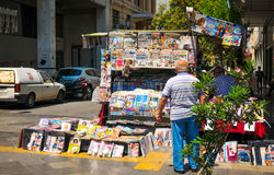 News stand in Athens, Greece Stock Photography