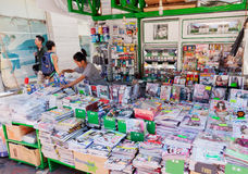 News stand in Hong Kong Stock Photo