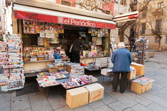 News stands in  Spain Royalty Free Stock Images