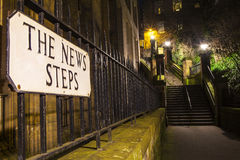 The News Steps in Edinburgh Royalty Free Stock Images