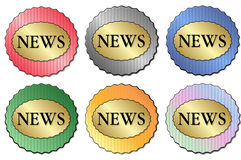 News Sticker Stock Photos