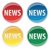 News Sticker Royalty Free Stock Photos