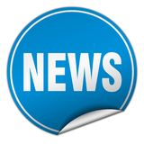 News sticker. News round sticker isolated on wite background. news Royalty Free Stock Photography