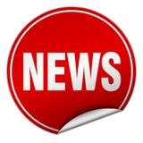 News sticker. News round sticker isolated on wite background. news Stock Photo