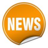 News sticker. News round sticker isolated on wite background. news Stock Photos
