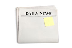 Daily News and Sticky Note Stock Photos