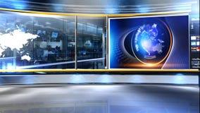 News_studio_virtualset almacen de metraje de vídeo
