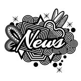 News symbol for flyer, poster, banner, web header. EPS file available. see more images related stock illustration