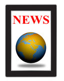 News in tablet Royalty Free Stock Images