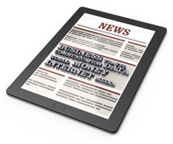 News on tablet computer Royalty Free Stock Photography