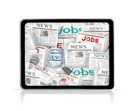 News, tablet computer Royalty Free Stock Photos