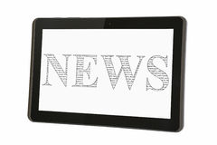 News On Tablet Stock Photos