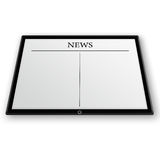 News on tablet pc Royalty Free Stock Image