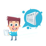 News on the tablet Royalty Free Stock Image