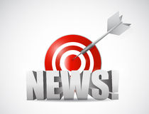 News on the target concept illustration design. Over a white background Royalty Free Stock Image