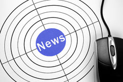 News target and pc mouse Royalty Free Stock Photo
