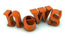 News text Royalty Free Stock Photo