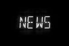 News text digital. Display light Royalty Free Stock Photography