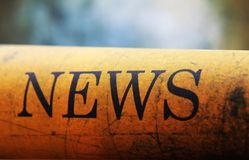 News text on grunge paper Royalty Free Stock Image