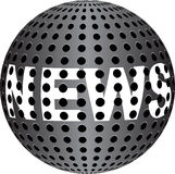 NEWS text on metallic ball royalty free illustration