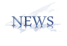 News text - newsletter element Royalty Free Stock Photo
