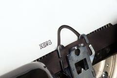 News text on retro typewriter Royalty Free Stock Images