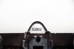News text on retro typewriter Stock Photo