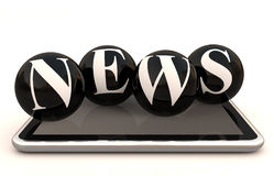 News text on tablet Royalty Free Stock Images