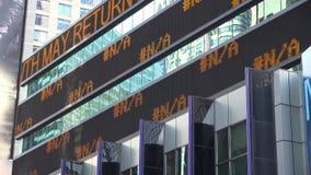News Ticker, Stock Symbols, Markets, Trades Stock Photo